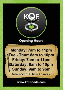 KQF Superstore Opening hours