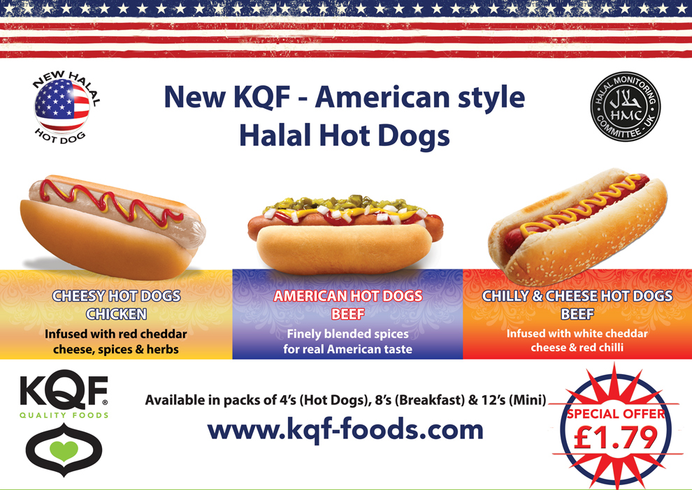 New American Style Halal Hot Dogs Kqf Foods Blog
